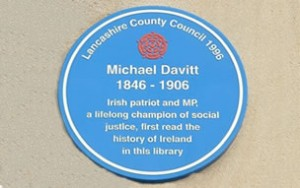 michael_davitt_blue_plaque_haslington_public_library