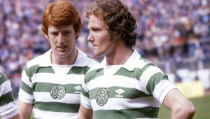 1979/1980  Celtic's Tommy Burns (left) with teammate Johnny Doyle
