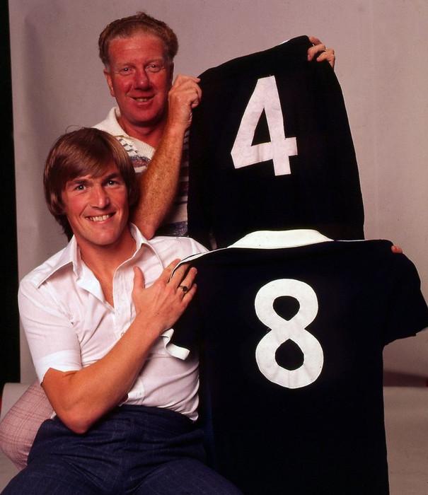 Bobby Evans and Kenny Dalglish